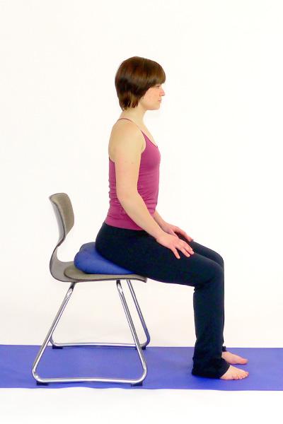 Übung mit dem Sitfit /Ballkissen für  Bauch und Rücken - sit