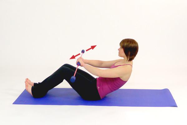 Schwingstab Übung zur Kräftigung der geraden Bauchmuskulatur