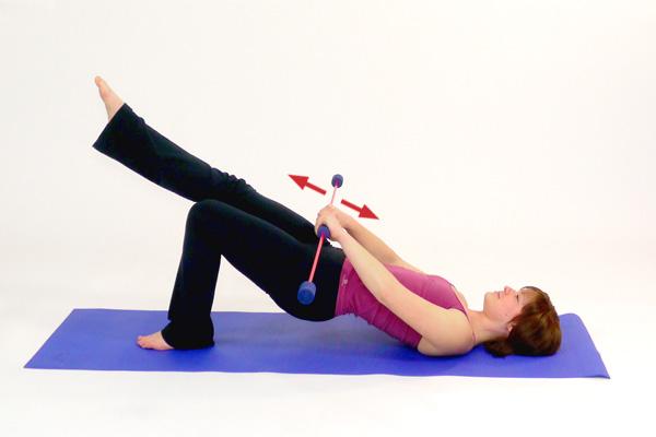 Schwingstab Übung speziell für Po/  Gesäß und Oberschenkel