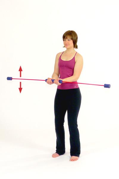 Übung mit dem Schwingstab für den Bizeps / die Armmuskulatur