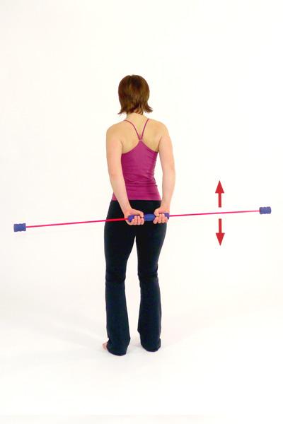 Übung mit dem Schwingstab:   Rücken- und  Schultertraining