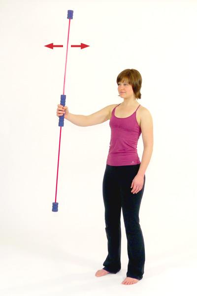 Übung mit dem Schwingstab für  die Schulter- und Armmuskulat